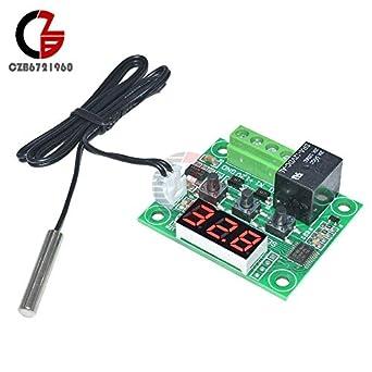 2PCS -50-110°C Red W1209 Digital Thermostat Temperature Control Switch Sensor