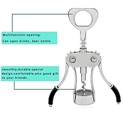 Foho Best Wing Corkscrew Wine Bottle Opener Luxury Waiter Corkscrew with Stopper Set for Wine Enthusiast Waiters - Sleeve Anchors
