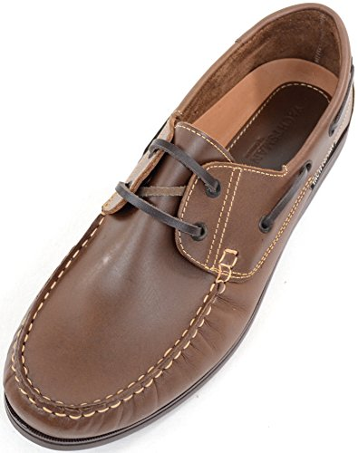 Mens In Pelle Casual / Formale / Vacanza Slip On Boat / Deck Mocassini Stringate Tan