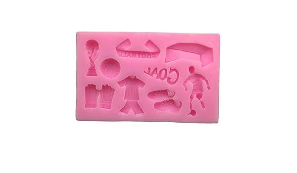 Molde de silicona 3D con forma de abanicos de fútbol para ...