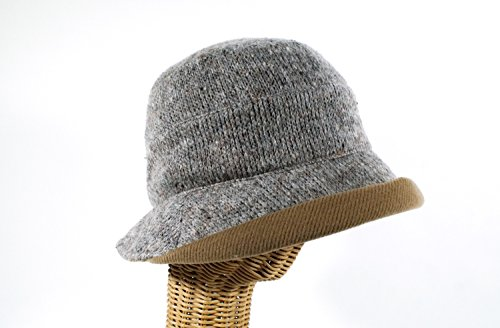 Hat Stuff Loft Women's Provence Tweed Cap Gray made in New England