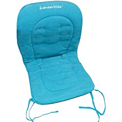Asunflower Baby High Chair Cushion Pad, Soft Cotton Infant Stroller Seat Cover Pad with Ties