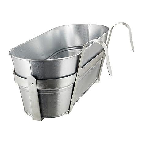 Ikea Socker Vaso Da Fiori Con Supporto Int Est Zincato