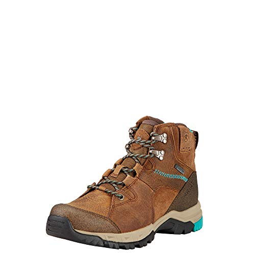 ARIAT Women's Skyline Mid GTX Hiking Boot Turquoise Sole Taupe 7.5 M US (Gtx Bootie)