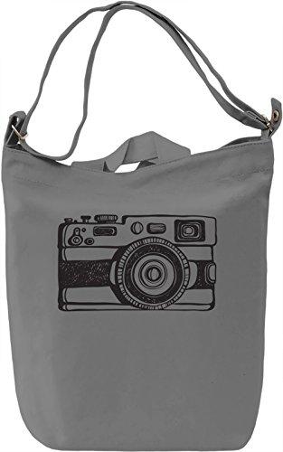 Retro camera Borsa Giornaliera Canvas Canvas Day Bag| 100% Premium Cotton Canvas| DTG Printing|