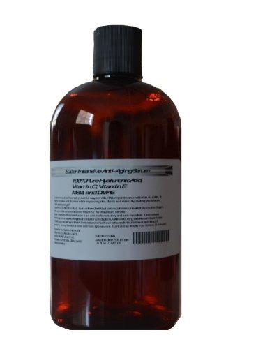Super Intensive Anti-Aging Serum, 100% Pure Hyaluronic Acid, Vitamin C, Vitamin E, MSM, and DMAE (16oz) Review