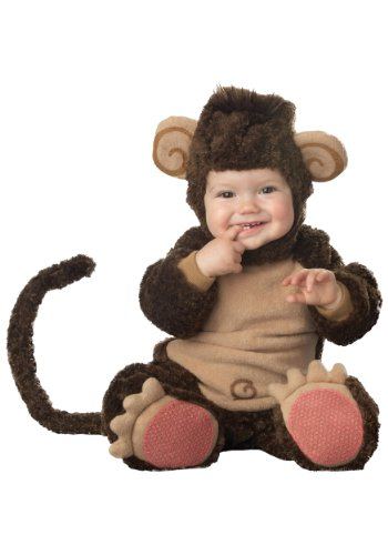 InCharacter Costumes Baby's Lil' Monkey Costume, Brown/Tan, Medium (12-18 Months) ()