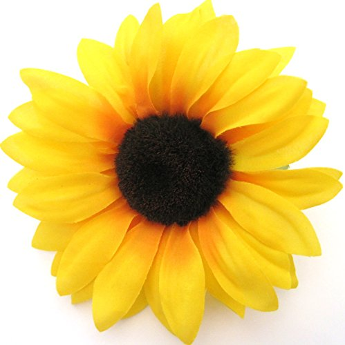 Amazon 475 yellow sunflower silk flower hair clip clothing mightylinksfo
