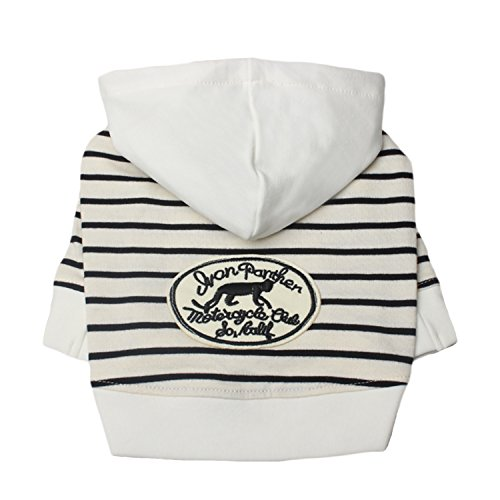 Neodot Zebra Stripes Dog Hoodies Sweatshirts Cotton Made Pet Clothes for Dogs