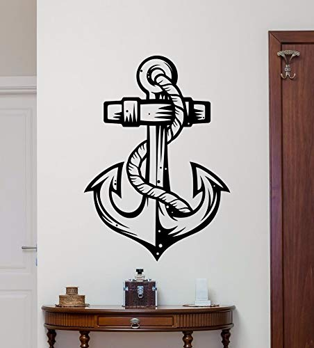 linshel Anchor Tatuajes De Pared Ancla Mar Océano Vinilo Pegatina Náutica Marina Baño Decoración De Pared Arte De La...