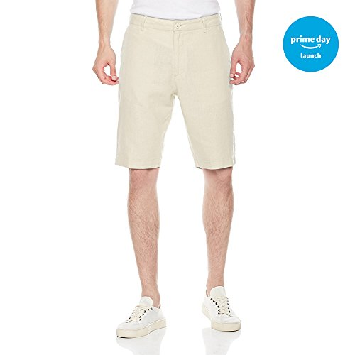 Isle Bay Linens Men's Easy Care Solid Flat-Front Short White 44 by Isle Bay Linens
