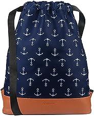 Leapop Drawstring Bag Lightweight Gym Sack Bag Sport Unisex Backpack Sackpack