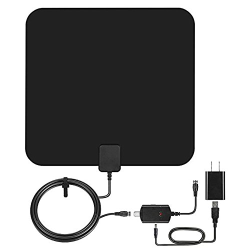 Indoor TV Antenna,Balight Digital HDTV Antenna 10ft Coaxial Cable 50-70 Mile Range Amplified Computer Networking Air TV Antenna