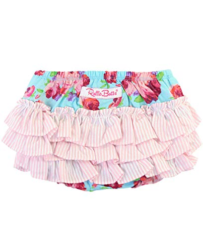 RuffleButts Baby/Toddler Girls Life is Rosy 3-6m ()