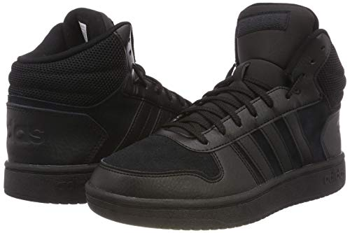 Core Pour Baskets 2 Noir Hommes Noir 0 Hoops noir Mid Adidas pznUanB
