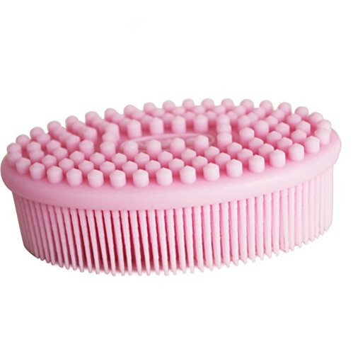 MissLytton Silicone Body Bath Brush, Baby Shower Brush Cleaning Shampoo, Body Wash Scrub Exfoliator Brush, Soft Loofah Body Scrubber Scalp Massaging Skin Exfoliation for Daily Use Women Men Newborns