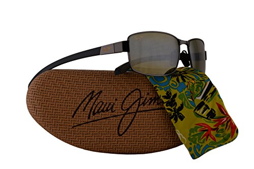 Maui Jim Kona Winds Sunglasses Gunmetal Grey w/Polarized Green Lens - Kona Sunglasses