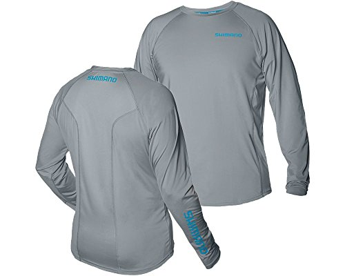Shimano CASTLSXXXLGY Shm Castor Ls tech Tee XXXL Gray (Shimano Fishing Shirts For Men)