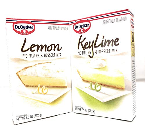 Dr. Oetker Lemon and Key Lime Pie Filling and Dessert Mixes Bundle (one each)