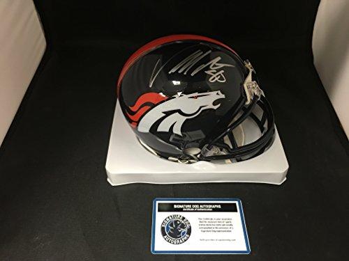 von-miller-signed-autographed-denver-broncos-speed-mini-helmet-witnessed-coa-hologram