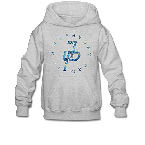 Aliensee Youth Jake Paul It's Every Day Van Gogh Hoodie Sweatshirt Suitable for 10-15yr old L Gray