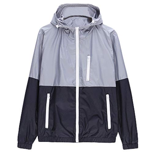 Sweatshirt jacket,NRUTUP Men's Casual Outdoor Sportswear Windbreaker Lightweight Bomber Jackets .(Gray,L)