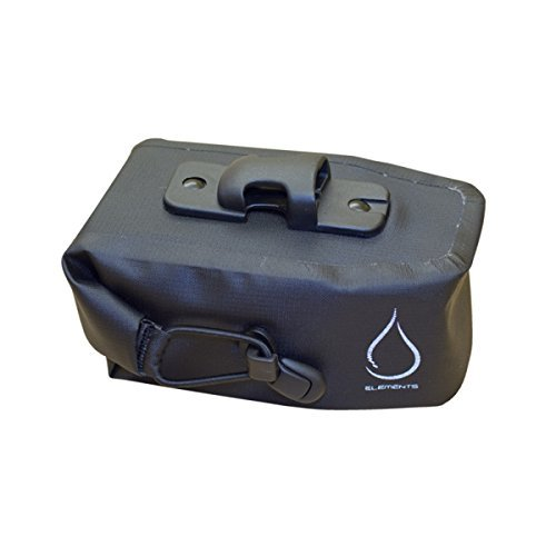 Serfas Monsoon Roll Top Waterproof Bicycle Saddle Bag - Medium (Black/Black)