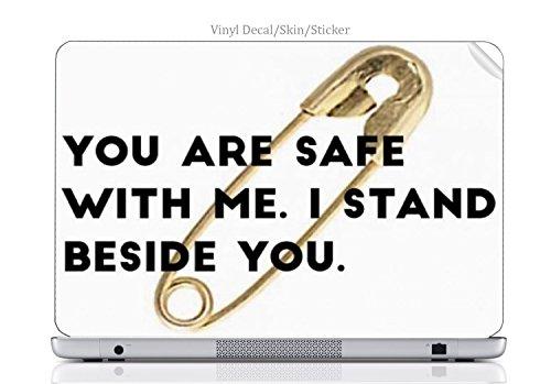 Laptop VINYL DECAL Sticker Skin Print Saftey Pin fits Chromebook 550