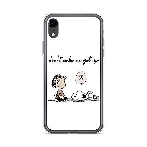 iPhone XR Pure Clear Case Cover Don't Make Me Get Up Snoopy -