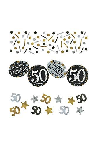 Birthday 50th Confetti (Amscan Sparkling Celebration 50 Confetti , Multicolor, 1.2 oz)