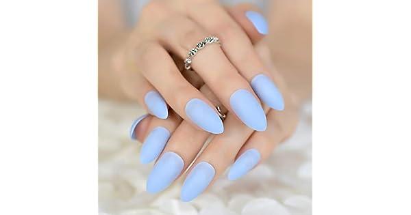 Amazon.com: Juego de uñas falsas de muchos colores, color ...