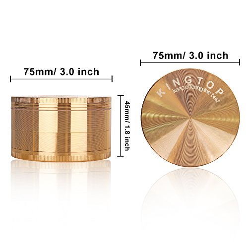 Kingtop Herb Spice Grinder Large 3.0 Inch Rose Gold by KingTop (Image #5)