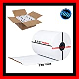 3 1/8 x 230 thermal paper roll 50 pack (BETTER QUALITY MORE PAPER THAN COMPETITORS) 2.75' Diameter Cash Register Rolls BPA Free Made in USA from BuyRegisterRolls 318230