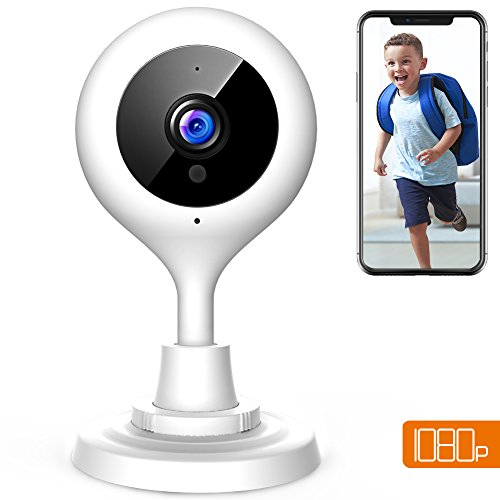 Intercom Indoor (APEMAN WiFi Camera 1080P Baby Monitor IP Wireless Surveillance Indoor Security Camera CCTV Cam with 2-Way Audio/Night Vision/Motion Detection/Cloud Service)