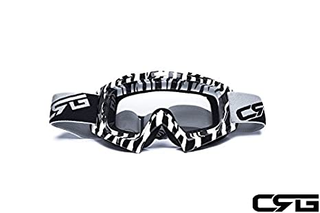 7de1687402 Image Unavailable. Image not available for. Color  CRG Sports Motocross ATV Dirt  Bike Off Road Racing Goggles ...