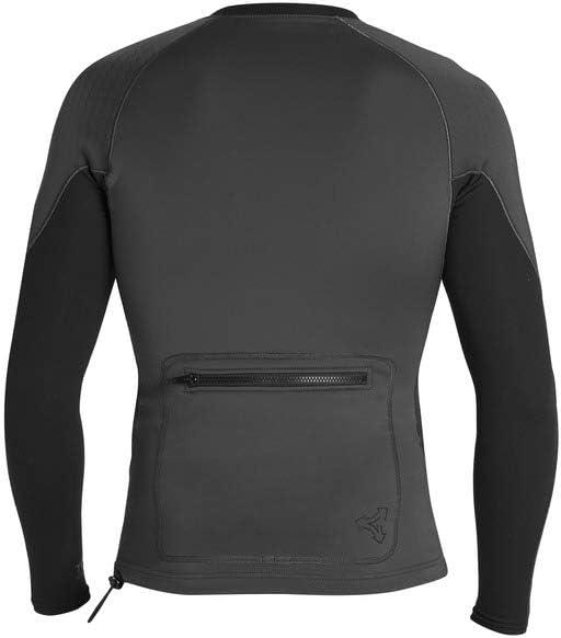 Xcel Scout Perforated Neoprene 1.5//0.5mm L//S Wetsuit Jacket Jet Black-Black XL