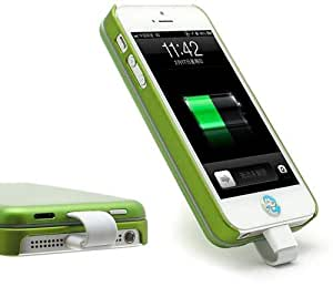 Green Detachable Magnetic Adsorption For iPhone 5 5s Battery Charger Power Bank Case 2800mAh