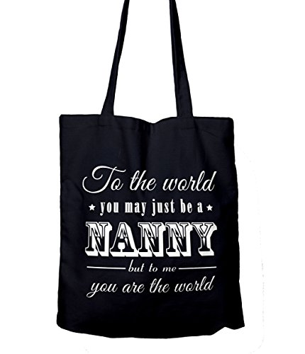 To the world you may just be a Nanny Gift Tote Shopping Bag Navy