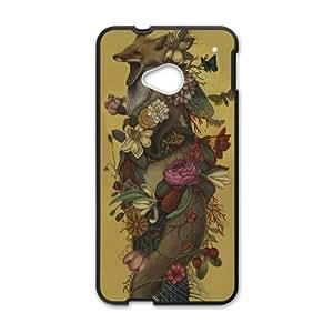 HTC One M7 Cell Phone Case Black Fox Confessor OQ7634322