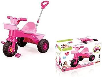 Dolu - My First Trike, Triciclo con Mango Regulable, Color Rosa (7004): Amazon.es: Juguetes y juegos