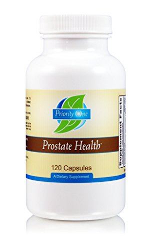 Priority One Vitamins Prostate Health 120 Capsules - Supporting a healthy prostate while maintaining male hormones within the normal range with the added benefit of prostate whole gland.* (Gland Prostate)