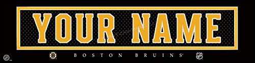 - Boston Bruins NHL Jersey Nameplate Wall Print, Personalized Gift, Boy's Room Decor 6x22 Unframed Poster