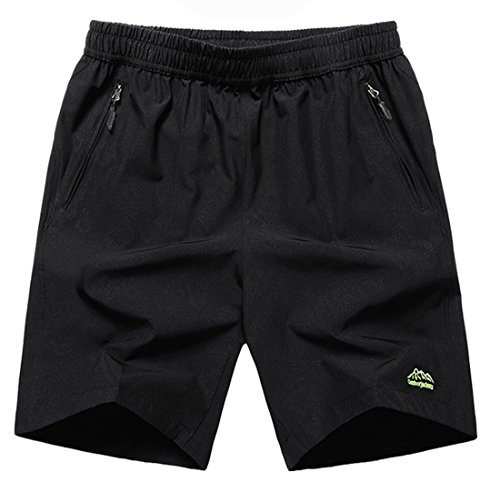 TBMPOY Men's Performance 7'' Loose Fit Workout Training Basketball Shorts(02 Black,us M) ()