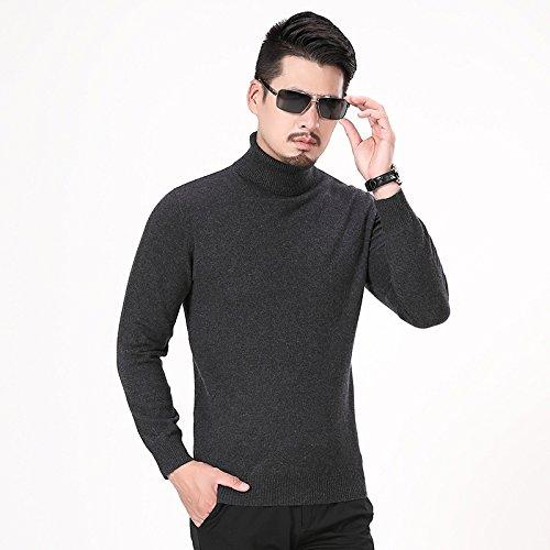Jdfosvm männer - Hemd und Pullover Kragen ärmel Kopf männlichen langärmelige Pullover schlanke männer Mode,dunkelgrau,l