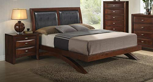 MYCO Furniture Emily Arch Bed Merlot/Queen