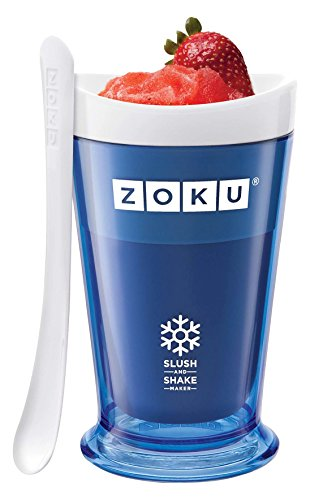 Zoku Slush and Shake Maker, Compact Make and Serve Cup with Freezer Core Creates Single-serving Smoothies, Slushies and Milkshakes in Minutes, BPA-free, Blue (Ice Cream Cup Maker)