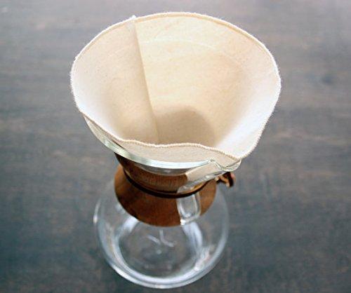 Chemex filtros de café reutilizable orgánico 6 Copa Estilo ...