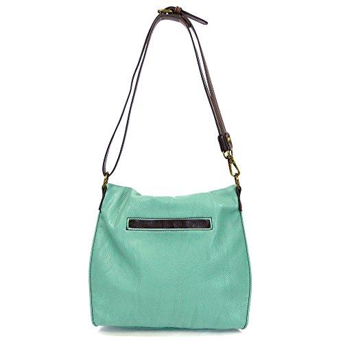 Flap With Teal Handbag Charming Chala Owl Top Shoulder Zipper Crossbody or and Bag XZ6FwWRqp