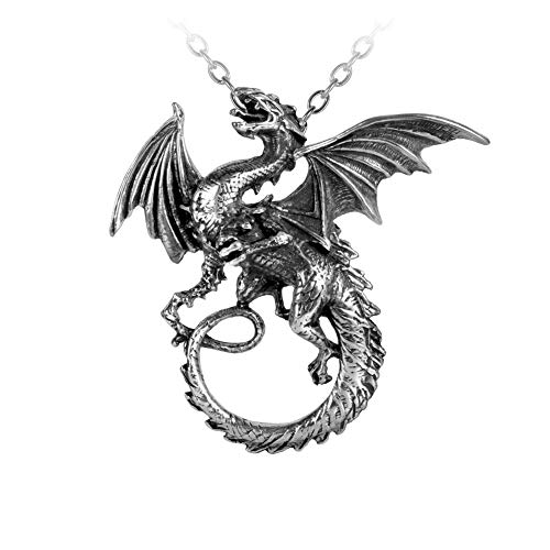 (Alchemy Gothic Pewter The Whitby Wyrm Pendant Necklace)