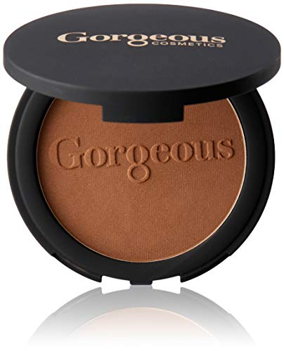 Gorgeous Cosmetics Endless Summer Bronzing Powder, Matte Finish for Face and Body, Compact with Mirror, Highly Pigmented and Buildable, Shade ES-02 ()